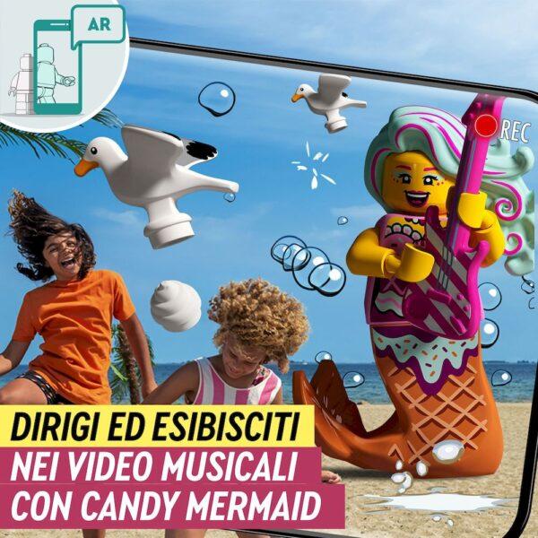 LEGO VIDIYO Candy Mermaid BeatBox Creatore Video Musicali con Sirenetta, Giocattoli per Bambini, App Realtà Aumentata, 43102   Lego
