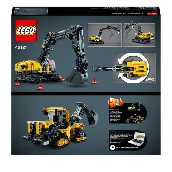 LEGO TECHNIC LEGO Technic Escavatore Pesante e Trattore Cingolato, Giocattolo 2 in 1, Costruzioni per Bambini e Bambine 8+ Anni, 42121