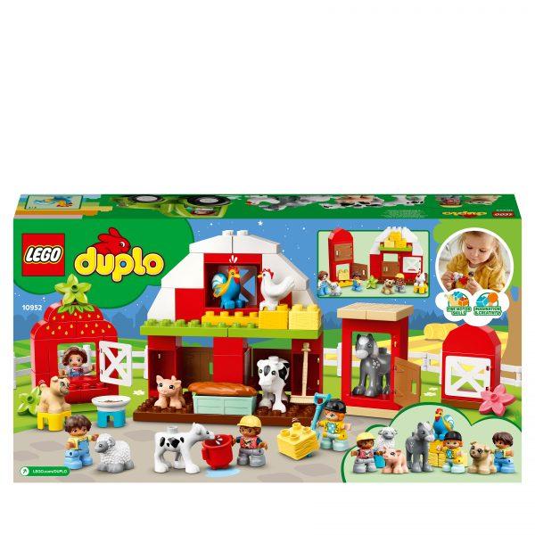 LEGO DUPLO Town Fattoria con Fienile, Trattore e Animali, Giocattoli per Bambini 2+ Anni con Cavallo, Maialino e Mucca, 10952 LEGO DUPLO