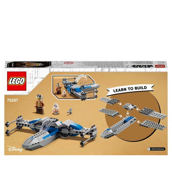 Lego LEGO Star Wars Resistance X-Wing Starfighter, Giocattoli per Bambini 4+ Anni con Minifigure di Poe Dameron, 75297