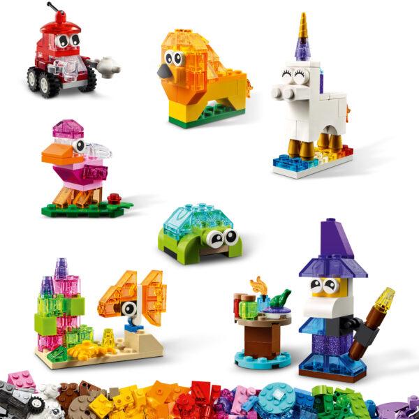Classic  LEGO Classic Mattoncini trasparenti creativi - 11013