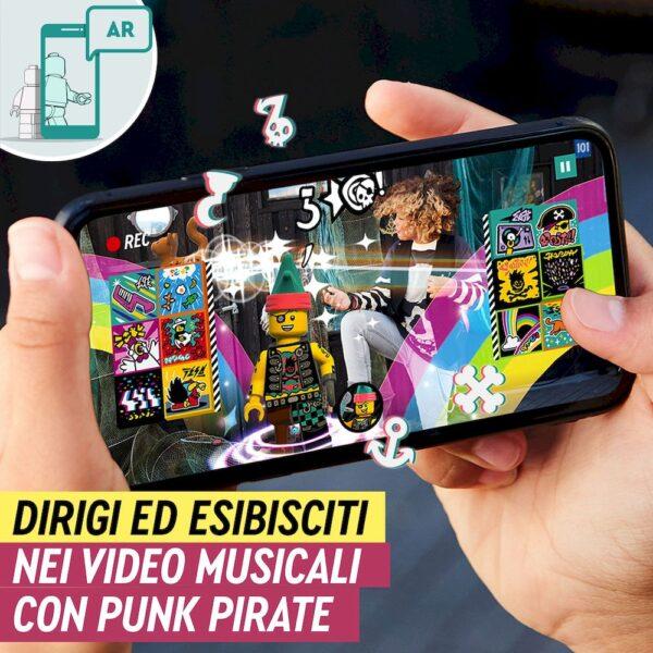 Lego  LEGO VIDIYO Punk Pirate BeatBox Creatore Video Musicali con Pirata, Giocattoli per Bambini, App Realtà Aumentata, 43103