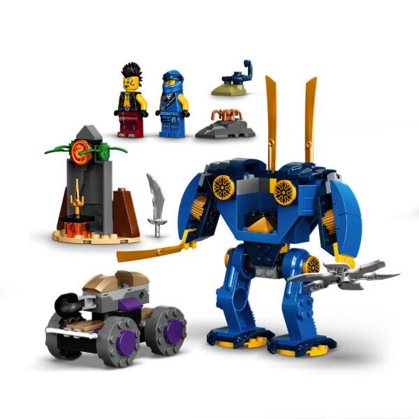 LEGO NINJAGO Legacy Electro-Mech di Jay, Giocattoli Action Figure per Bambini 4+ Anni con Ragno e Auto Ninja, 71740    LEGO NINJAGO