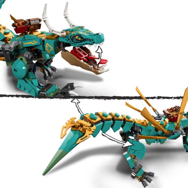 LEGO NINJAGO   LEGO NINJAGO Dragone della Giungla, Costruzioni per Bambini 8+ Anni con 4 Minifigure, Ninja Lloyd e Zane, 71746