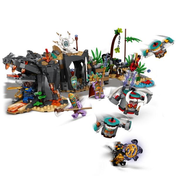 LEGO NINJAGO  LEGO NINJAGO Il Villaggio dei Guardiani, Costruzioni per Bambini 8+ Anni con 5 Minifigure, Ninja Cole, Jay e Zane, 71747