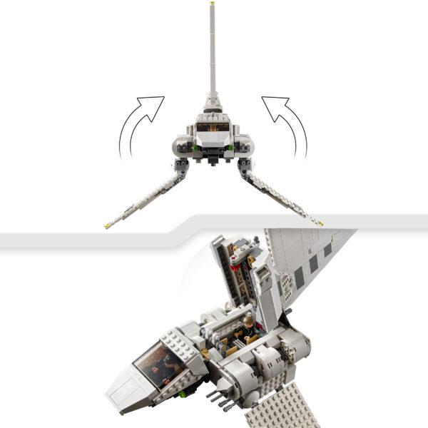 Lego   LEGO Star Wars Imperial Shuttle, Set di Costruzioni con Minifigure di Luke Skywalker e Darth Vader con Spada Laser, 75302