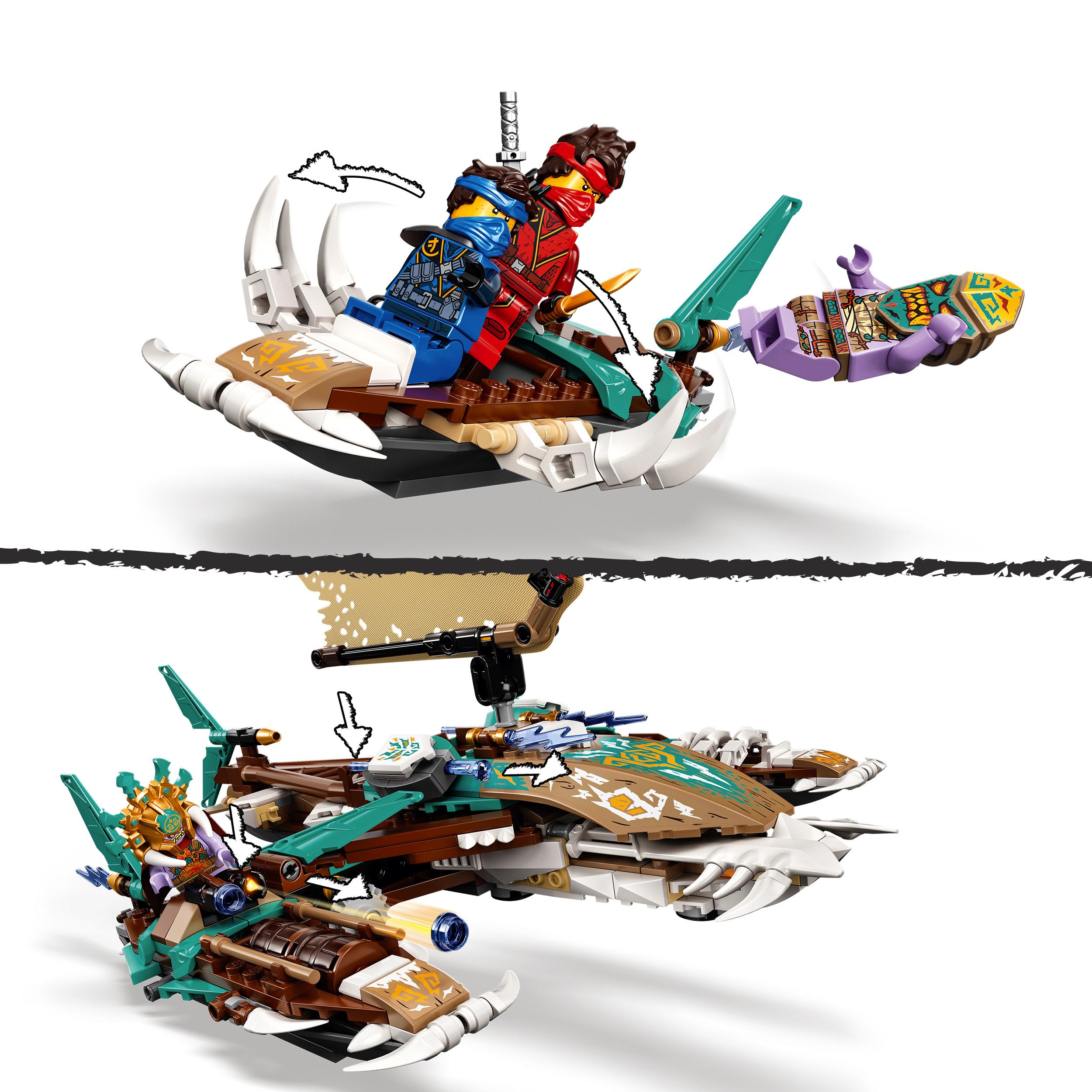Lego ninjago battaglia in mare dei catamarani, playset con 4 barche giocattolo e minifigure di jay e zane, 71748 - LEGO NINJAGO