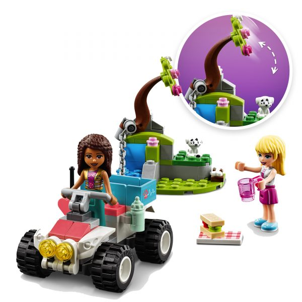 LEGO FRIENDS  LEGO Friends Il Buggy di Soccorso della Clinica Veterinaria per Bambini 6+ Anni con Mini-doll di Stephanie e Andrea, 41442