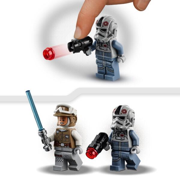 Lego   LEGO Star Wars Microfighter AT-AT vs Tauntaun, Set di Costruzioni con Minifigure di Luke Skywalker e del Pilota, 75298