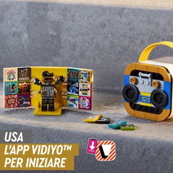 LEGO VIDIYO HipHop Robot BeatBox Creatore Video Musicali, Giocattoli per Bambini, App Realtà Aumentata con Minifigure, 43107 Lego