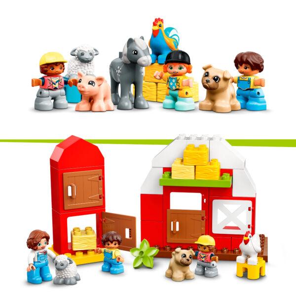 LEGO DUPLO   LEGO DUPLO Town Fattoria con Fienile, Trattore e Animali, Giocattoli per Bambini 2+ Anni con Cavallo, Maialino e Mucca, 10952