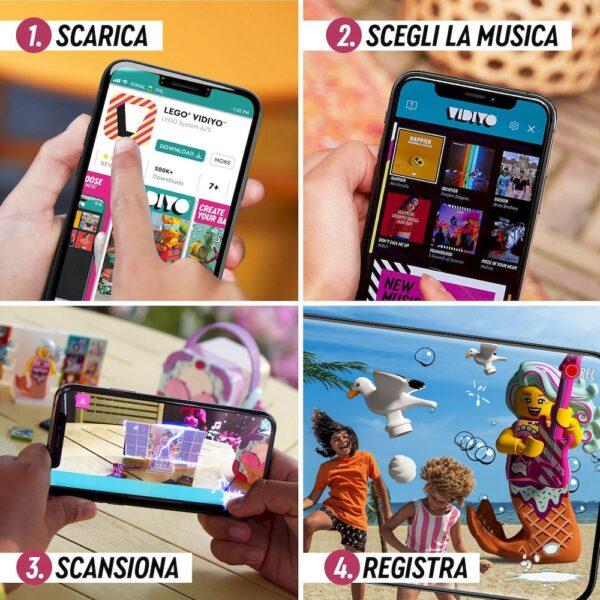 Lego LEGO VIDIYO Candy Mermaid BeatBox Creatore Video Musicali con Sirenetta, Giocattoli per Bambini, App Realtà Aumentata, 43102