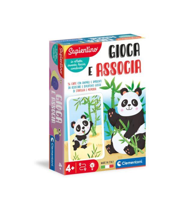 Clementoni - 16308 - GIOCA E ASSOCIA- ANIMALI SAPIENTINO