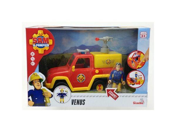 SIMBA - SAM IL POMPIERE, VEICOLO VENUS CM 19, + 3 ANNI, 109257656038 Fireman Sam