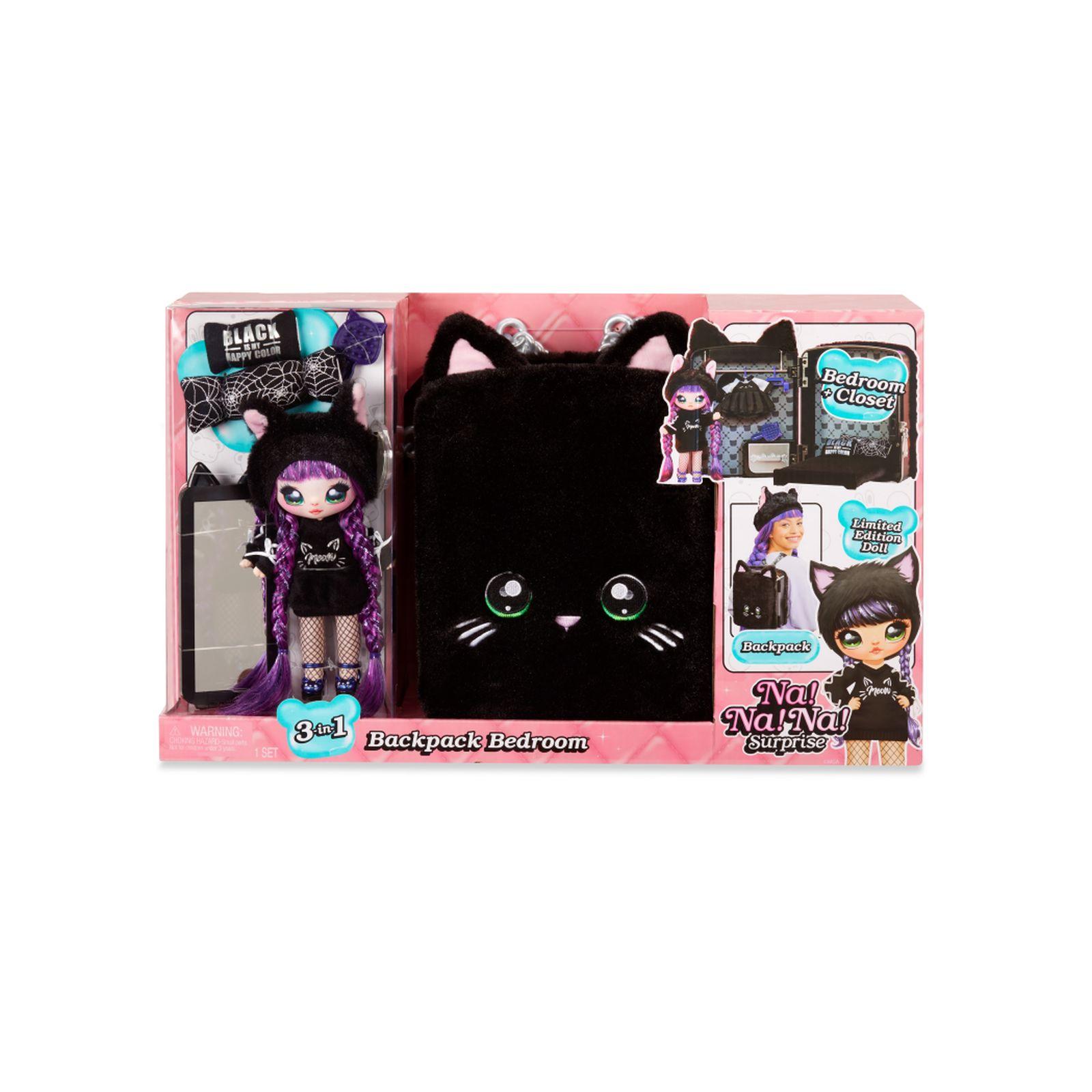 Na! na! na! surprise 3-in-1 backpack bedroom playset - black kitty - NA! NA! NA! SURPRISE, NANANA