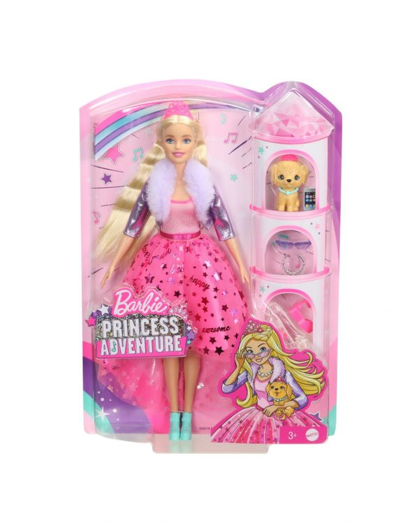 BARBIE PRINCESS ADVENTURE, BAMBOLA BARBIE CON ABITO DA PRINCIPESSA E TANTI ACCESSORI Barbie