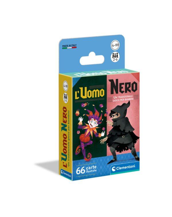 Clementoni - 16299 - UOMO NERO GIOCHI DI CARTE