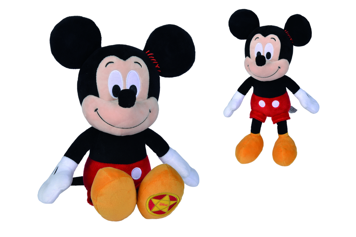 Simba disney mickey mouse vintage peluche 25 cm, +0 anni, 6315875784 - Disney