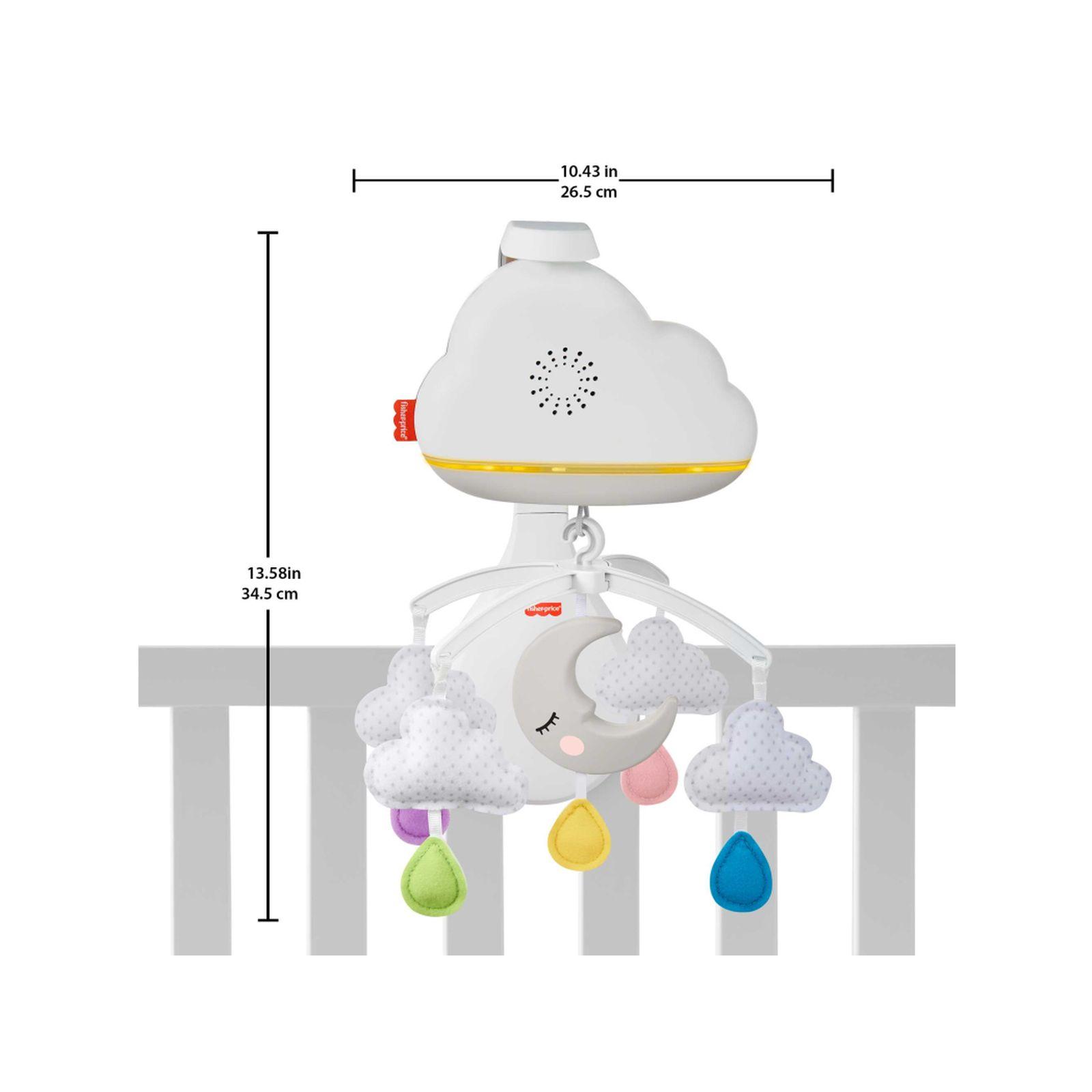 Fisher-price giostrina soffici nuvolette con unità relax, suoni e luci personalizzabili, 0+mesi - FISHER-PRICE