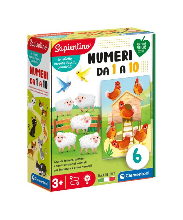 Clementoni - 16310 - NUMERI DA 1 A 10 SAPIENTINO