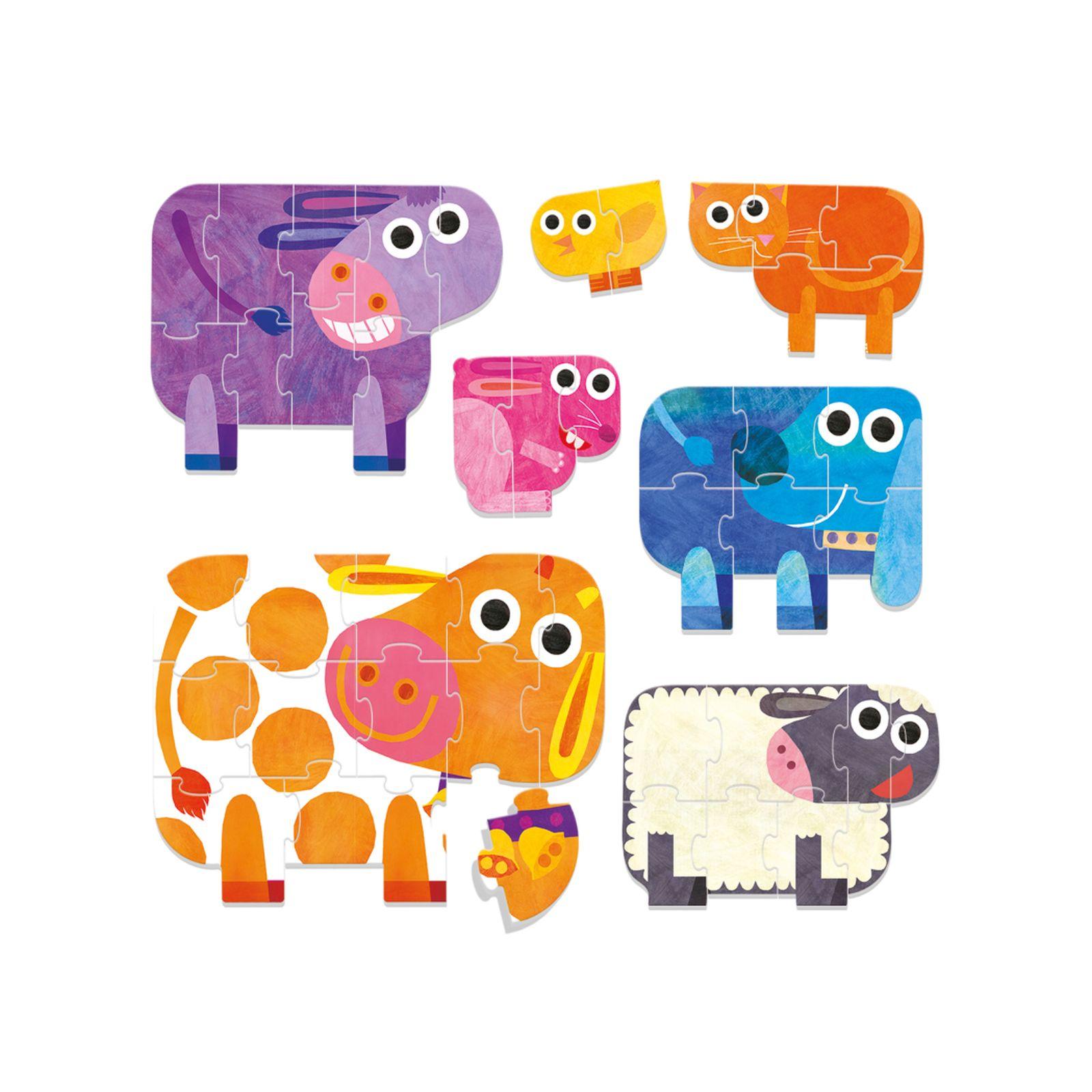 Play farm progressive puzzle - HEADU