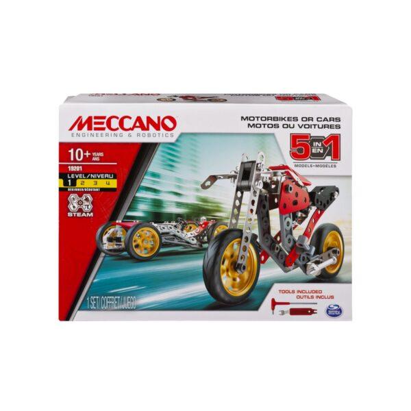 MECCANO MULTIMODELLO DA 5 - MOTO DA CORSA Meccano Logo