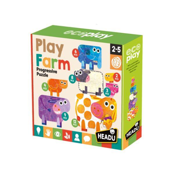 PLAY FARM PROGRESSIVE PUZZLE HEADU