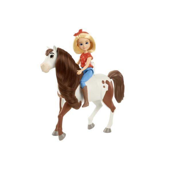 SPIRIT   Spirit – Bambola Abigail con il Suo Cavallo Boomerang, Snodati con Accessori, 3+Anni