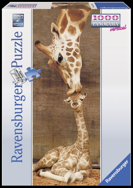 RAVENSBURGER PUZZLE 1000 PEZZI -  PANORAMA: BACIO GIRAFFE Ravensburger1