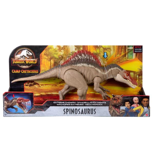 JURASSIC WORLD, DINOSAURO SPINOSAURO MORSO ESTREMO CON DETTAGLI REALISTICI, 4+ANNI    Jurassic World