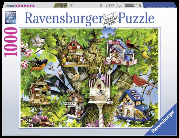 RAVENSBURGER PUZZLE 1000 PEZZI - BIRD VILLAGE Ravensburger1