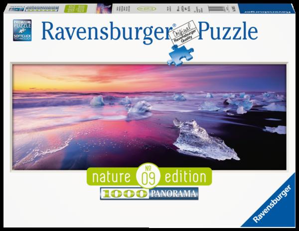 RAVENSBURGER PUZZLE 1000 PEZZI, NATURE EDITION -  LAGO JOKULSARLON, ISLANDA Ravensburger1