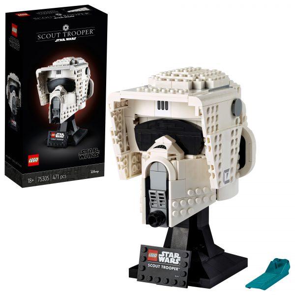 LEGO Star Wars Casco da Scout Trooper, Set da Costruzioni per Adulti, Regalo da Collezione, 75305 Lego