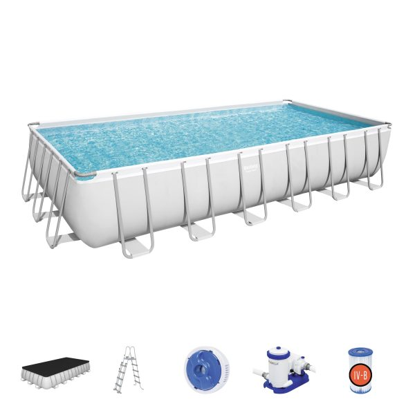 Set piscina fuori terra Power Steel™ da 7.32 m x 3.66 m x 1.32 m di Bestway® Bestway