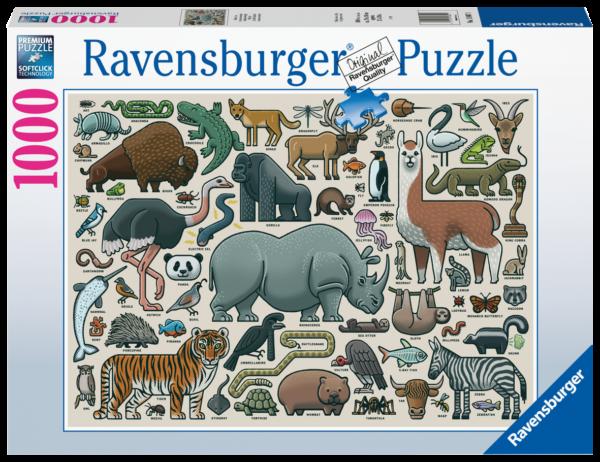 RAVENSBURGER PUZZLE 1000 PEZZI - ANIMALI SELVAGGI Ravensburger1