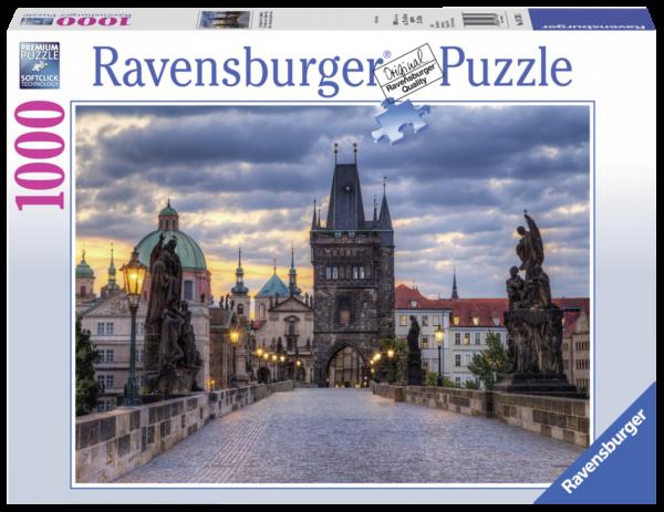 RAVENSBURGER PUZZLE 1000 PEZZI - THE WALK ACROSS  THE CHARLES BRIDGE Ravensburger1