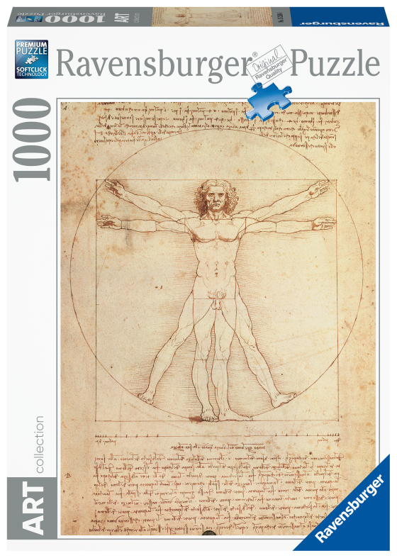 RAVENSBURGER PUZZLE 1000 PEZZI - UOMO VITRUVIANO, LEONARDO DA VINCI Ravensburger1