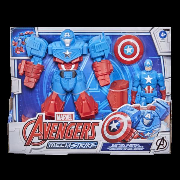 HASBRO MARVEL AVENGERS MECH STRIKE - SUPER HERO DA 20 CM, ACTION FIGURE DI CAPTAIN AMERICA ULTIMATE MECH SUIT, PER BAMBINI DAI 4 ANNI IN SU   Avengers