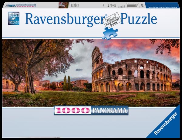 RAVENSBURGER PUZZLE 1000 PEZZI -  PANORAMA: COLOSSEO AL TRAMONTO Ravensburger1