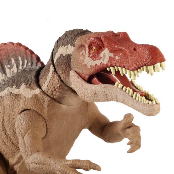 Jurassic World   JURASSIC WORLD, DINOSAURO SPINOSAURO MORSO ESTREMO CON DETTAGLI REALISTICI, 4+ANNI