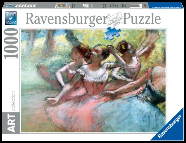 RAVENSBURGER PUZZLE 1000 PEZZI - DEGAS : FOUR BALLERINAS ON STAGE Ravensburger1