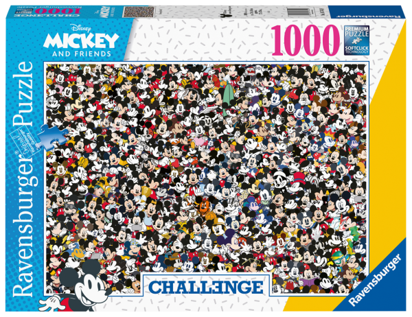 RAVENSBURGER PUZZLE 1000 PEZZI - CHALLENGE MICKEY Ravensburger1