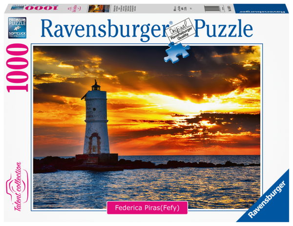 RAVENSBURGER PUZZLE 1000 PEZZI - FARO DI MANGIABARCHE ISOLA DI SANT ANTIOCO, SARDEGNA Ravensburger1