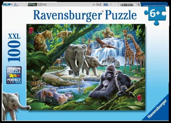 RAVENSBURGER 100 PEZZI - ANIMALI DELLA GIUNGLA Ravensburger1
