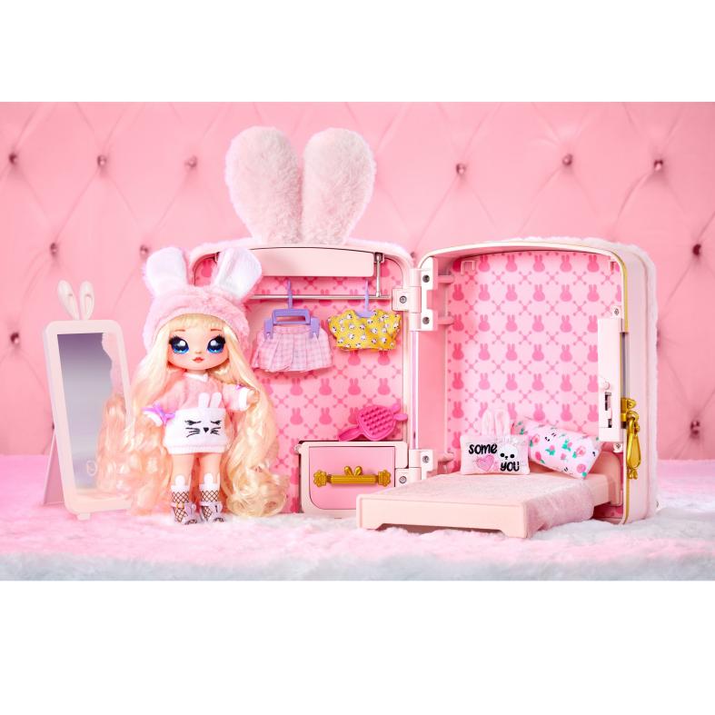 Na! na! na! surprise 3-in-1 backpack bedroom playset - pink bunny - NA! NA! NA! SURPRISE, NANANA