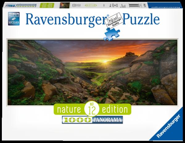 RAVENSBURGER  PUZZLE 1000 PEZZI : PANORAMA - SOLE SOPRA L ISLANDA Ravensburger1