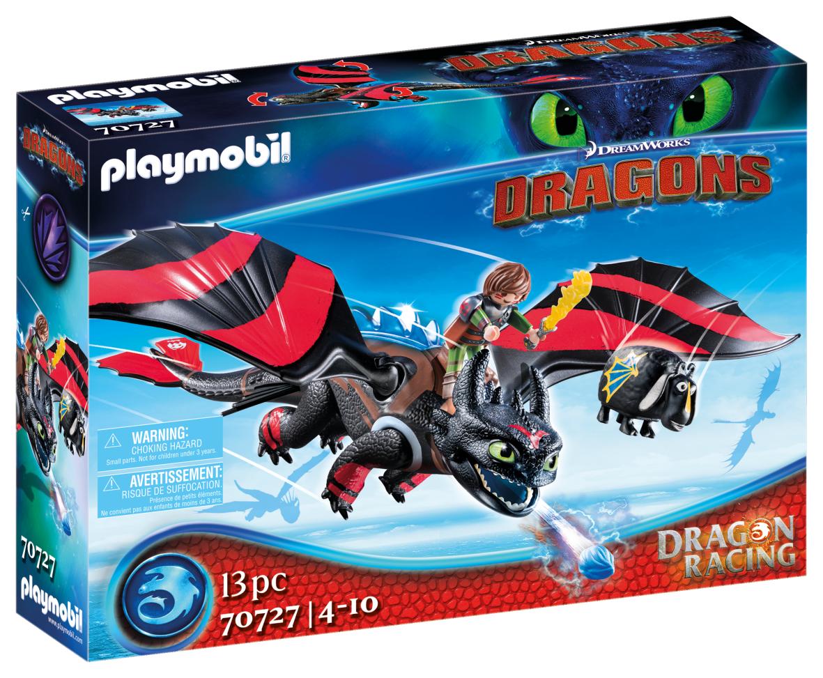 Dragons racing: hiccup e sdentato - Playmobil