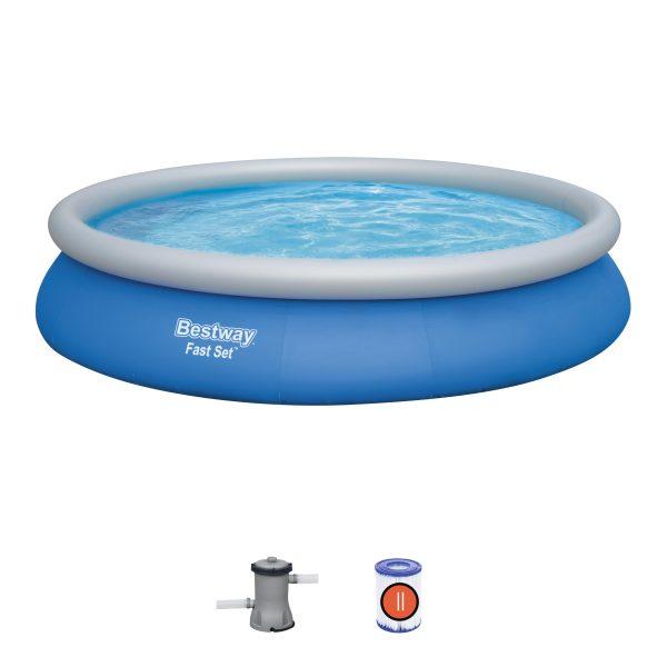 Set piscina gonfiabile Bestway® Fast Set™ - forma rotonda 4.57 m x 84 cm Bestway