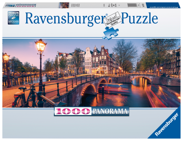 RAVENSBURGER PUZZLE 1000 PEZZI -  PANORAMA: UNA SERA AD AMSTERDAM Ravensburger1
