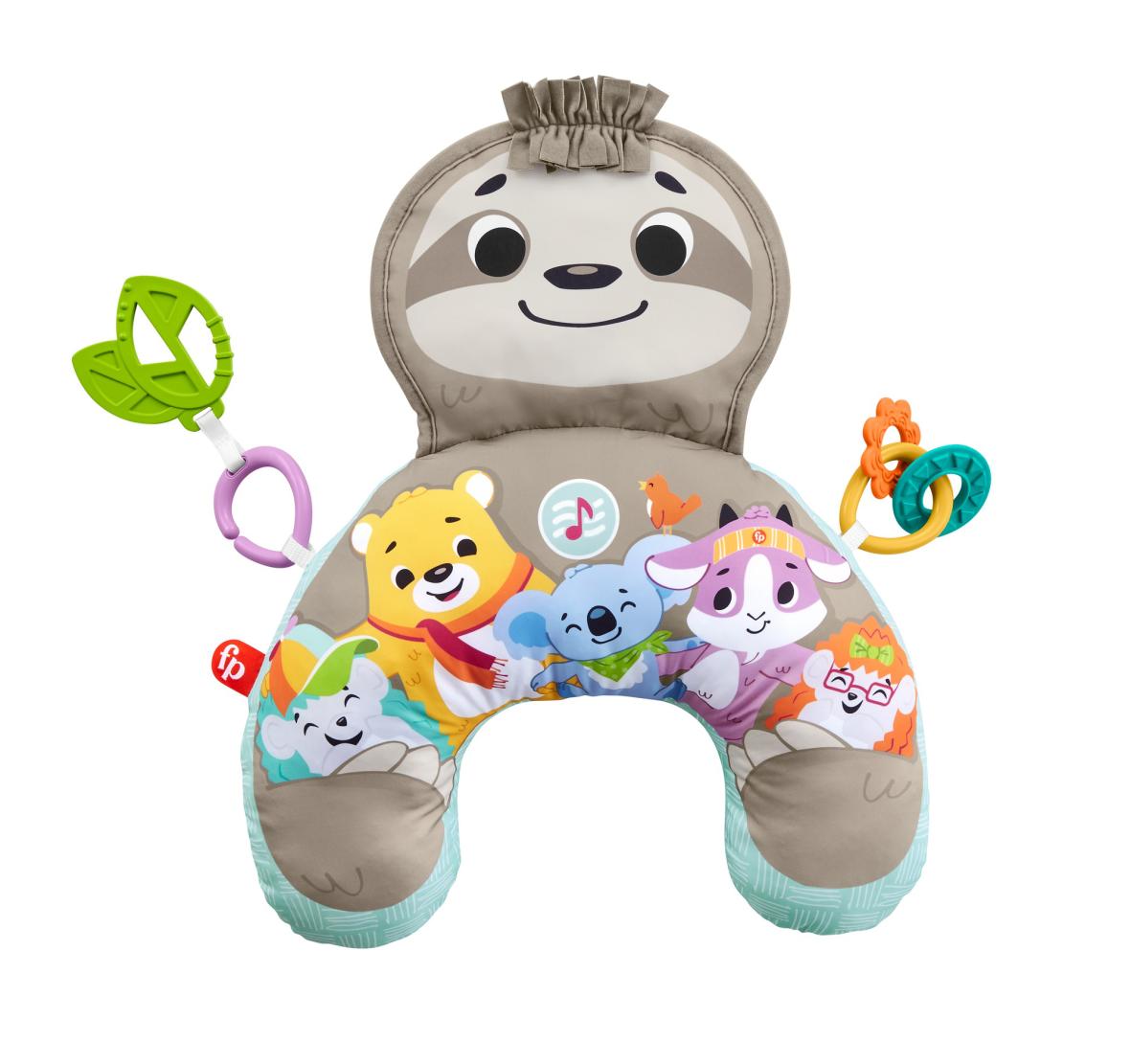 Fisher-price cuscino bradipo dolce relax con 10 minuti di musica, vibrazioni calmanti e 2 giocattoli, per neonati 0+mesi - FISHER-PRICE